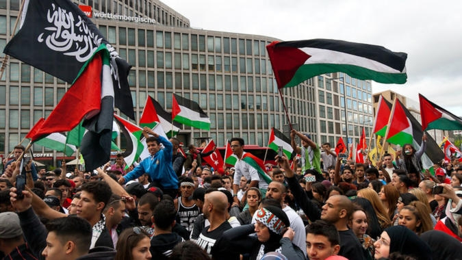 Palestinska demonstrace v Berline, 2014
