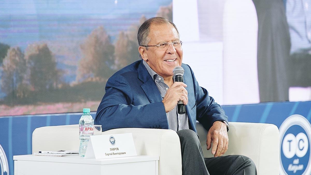 Ministr zahranici RF S. Lavrov